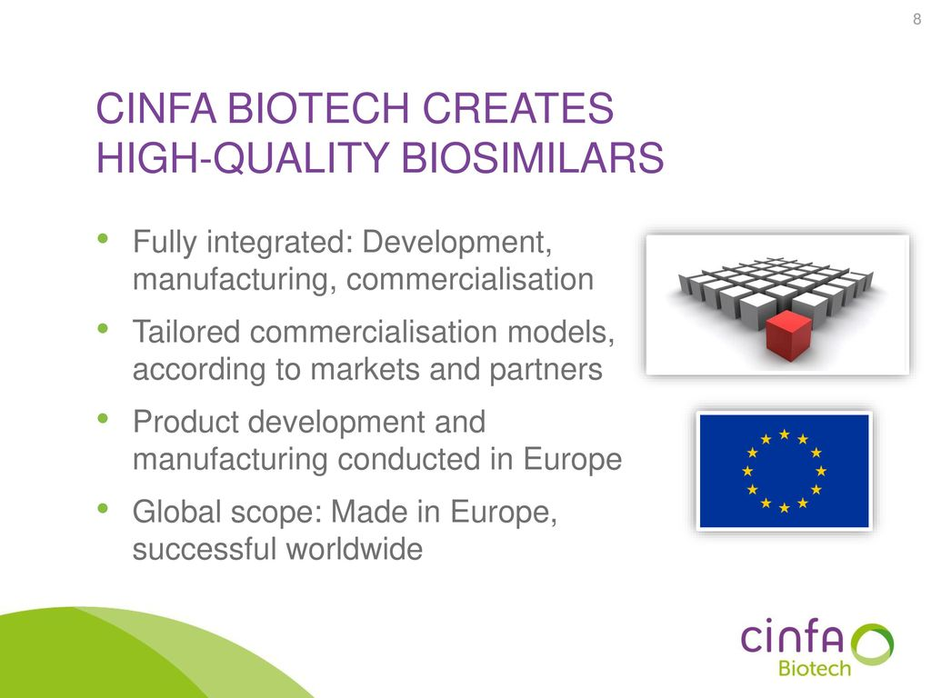 Cinfa biotech creates high-quality biosimilars