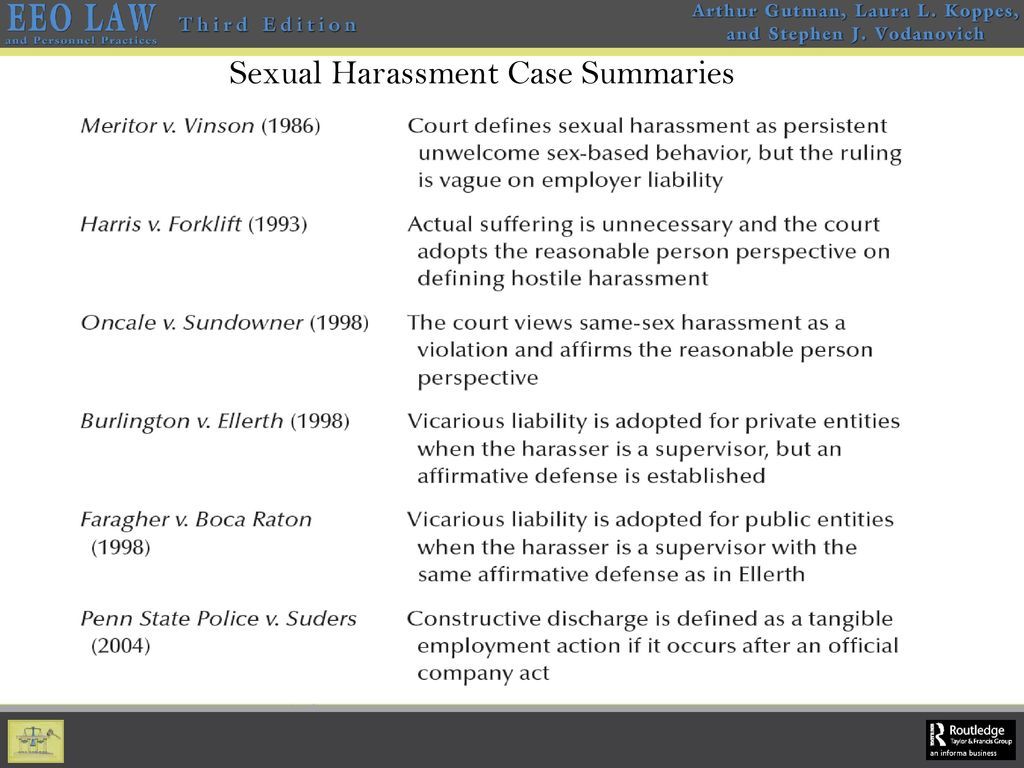 Constructive discharge definition eeoc sexual harassment