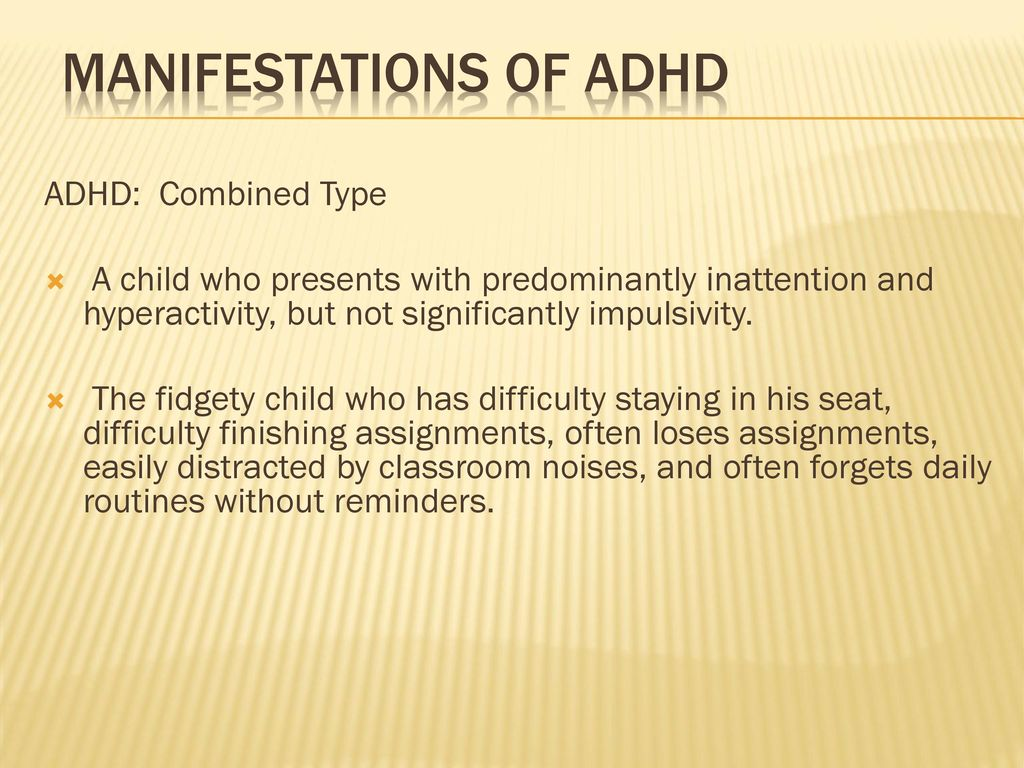 the existence of add and adhd essay Attention deficit hyperactivity disorder (adhd) is characterized by symptoms that include the inability to keep one's attention focused on a task, trouble organizing tasks, avoiding things that.