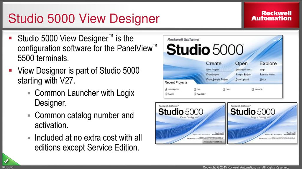 L17 - Studio 5000 View Designer™ featured on the PanelView