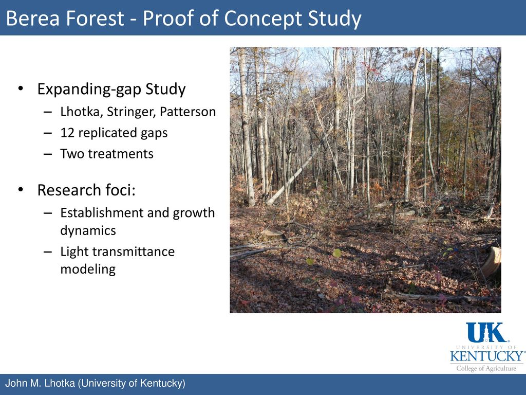 Berea Forest - Proof of Concept Study
