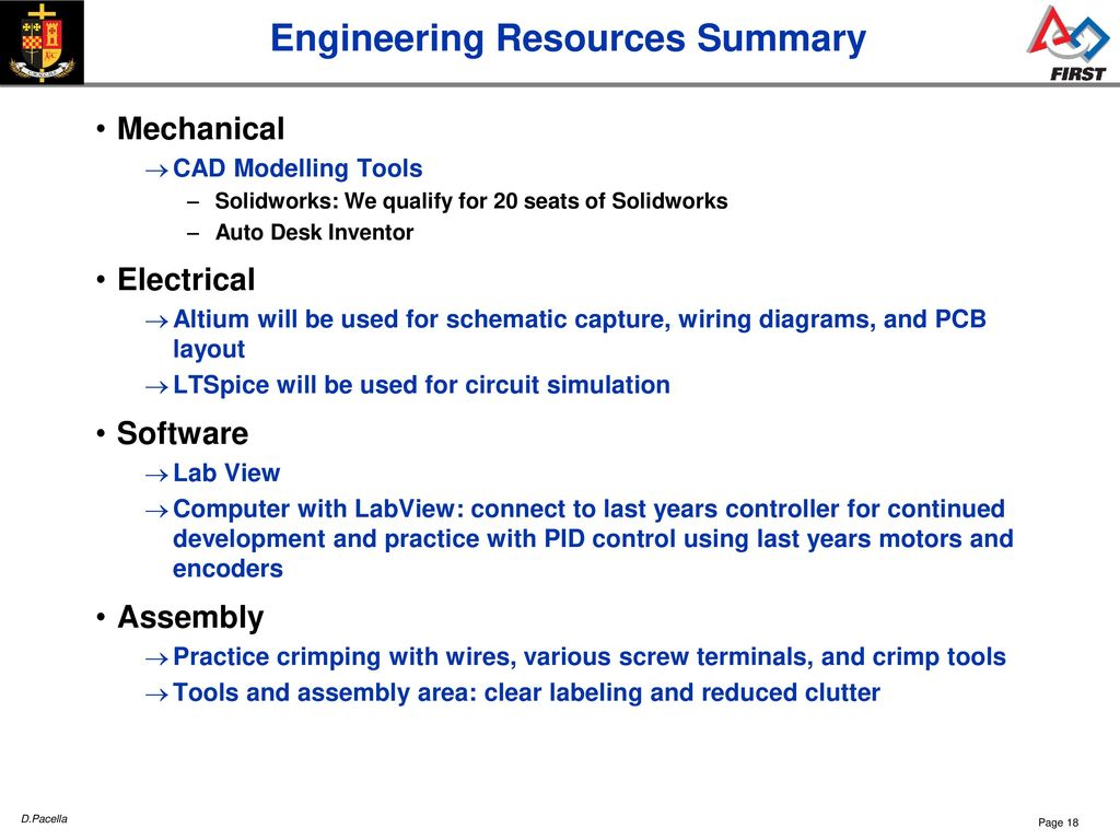 Cwnc Frc Sessions Team 26 Ppt Download Solidworks Wire Diagram 18 Engineering Resources Summary