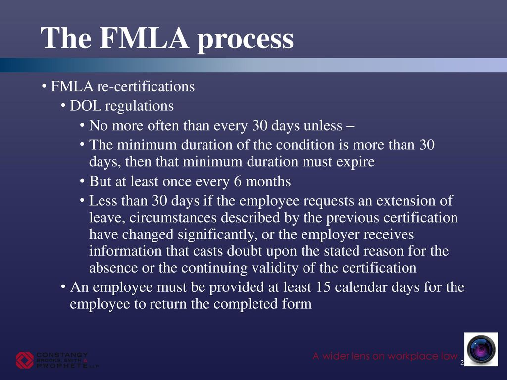 Backdating fmla certification