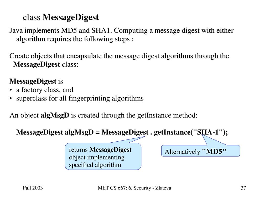 MET CS 667: 6  Security - Zlateva - ppt download