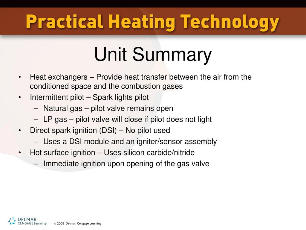 Unit 7 Gas Heat: Natural and LP - ppt download