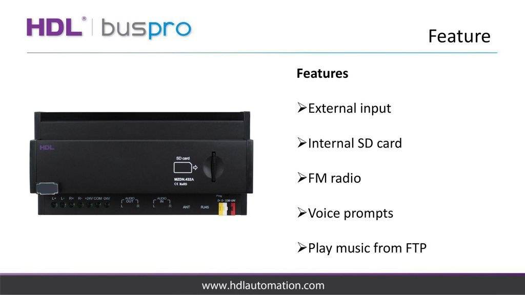 DIN Rail Music Player HDL-MZDN 432A  - ppt download