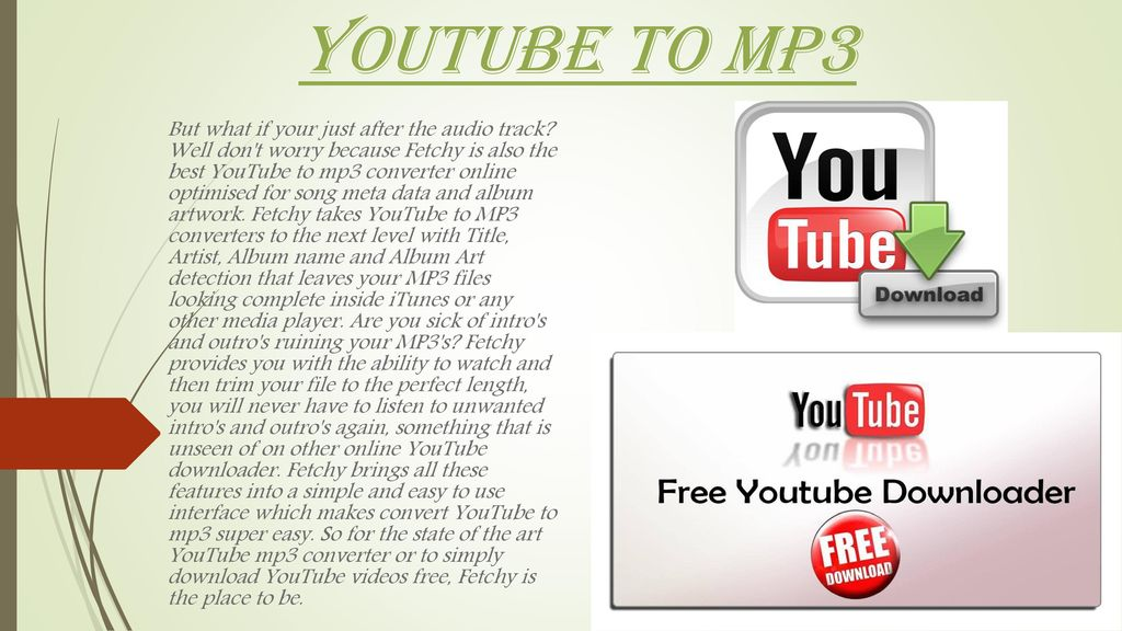 YouTube Mp3 Converter  - ppt download