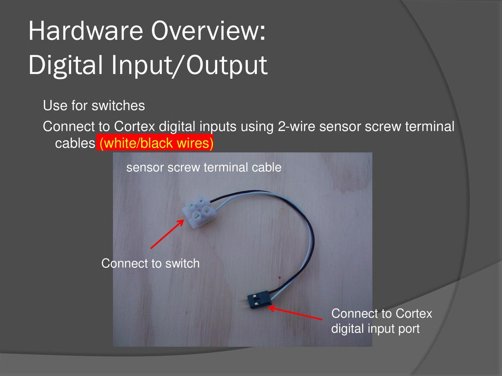 hardware overview: digital input/output