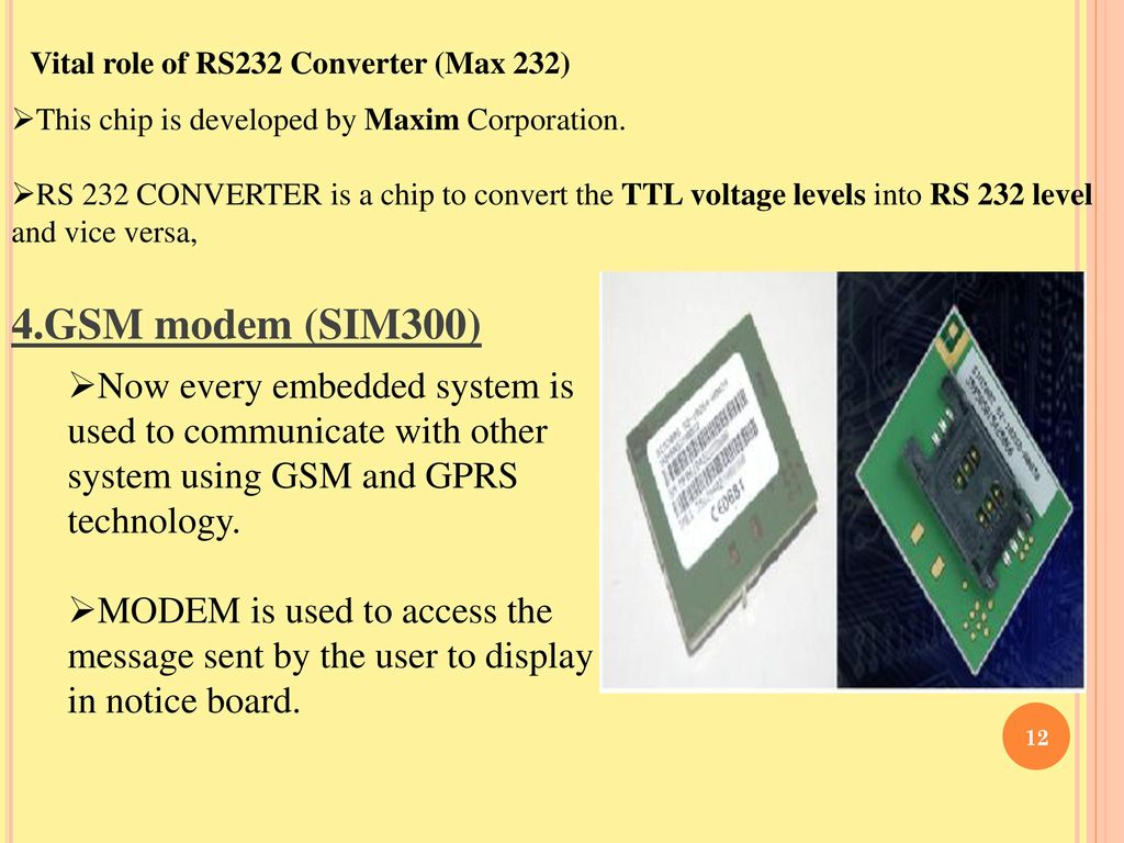 Max 232 Circuit Schematic Working Gsm Modem Pc Serial Port Wel Come Ppt Download Vital Role Of Rs232 Converter