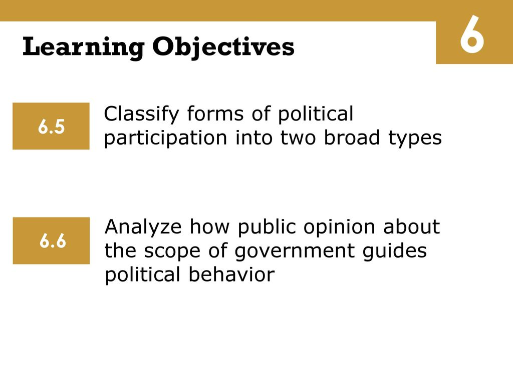 What are the forms of political behavior We need examples