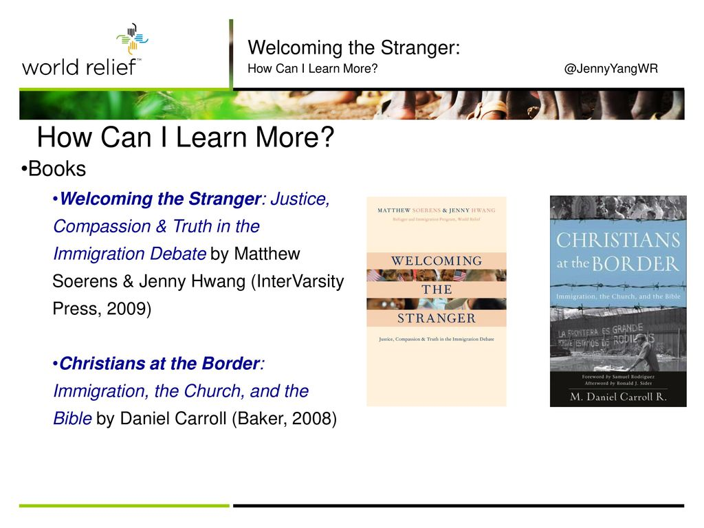 How Can I Learn More Books Welcoming the Stranger: