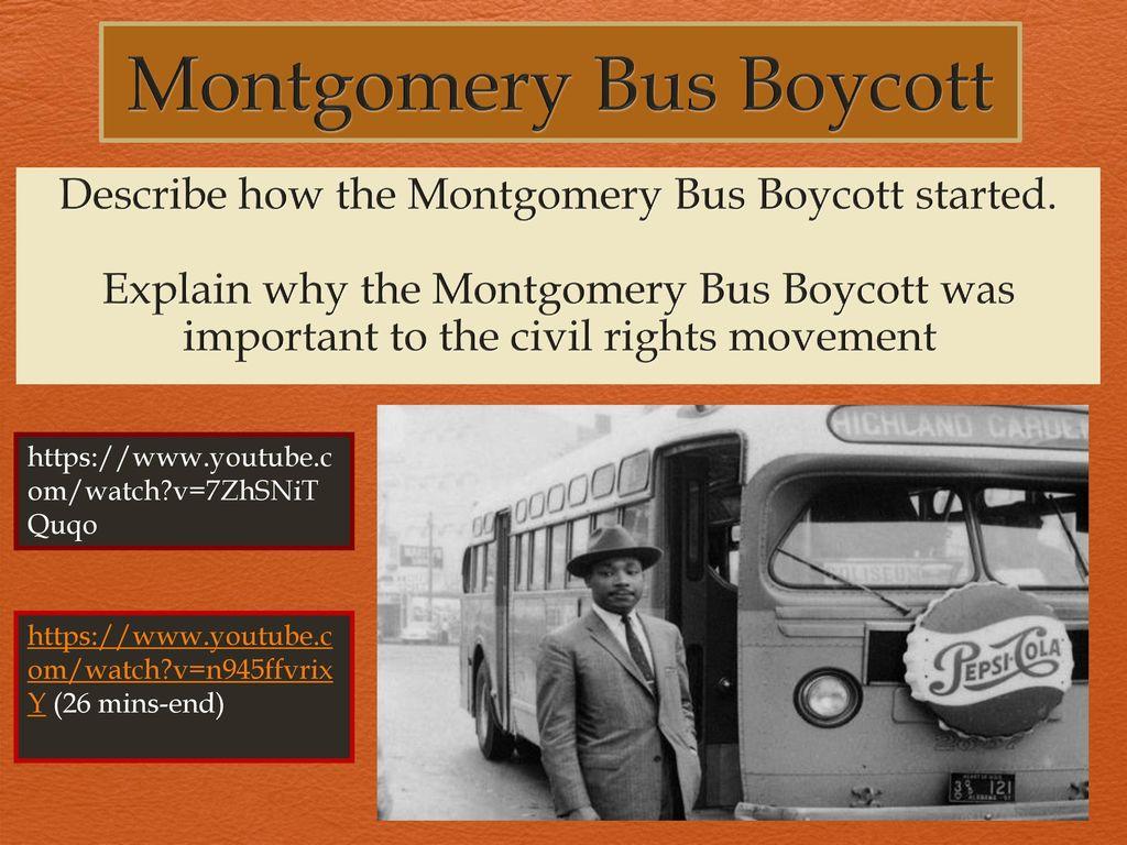 Montgomery Bus Boycott Ppt Download