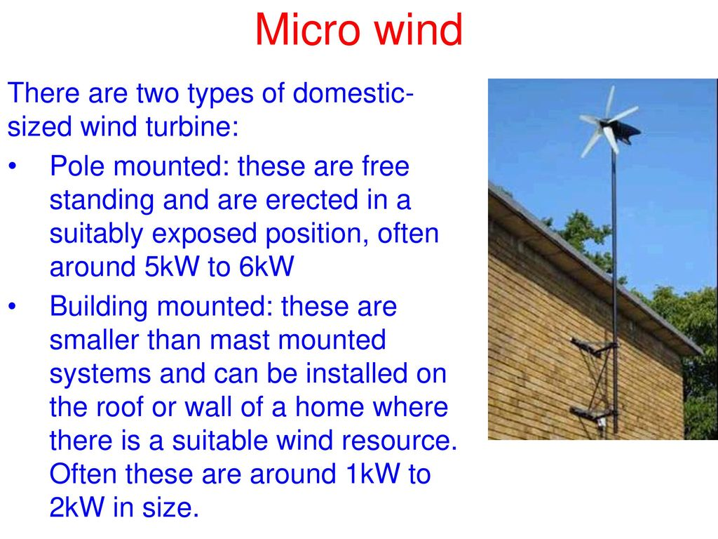 Micro wind Understand the fundamental principles and - ppt
