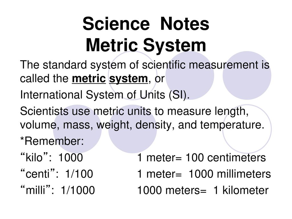 science notes metric system - ppt download