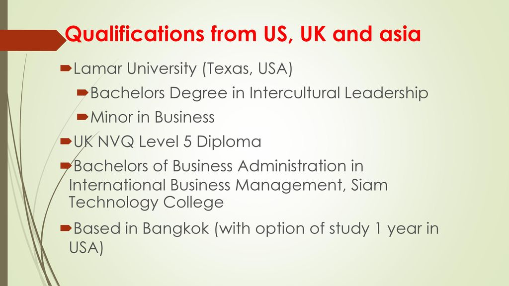 Tri Continent Bachelor S Degree Ppt Download