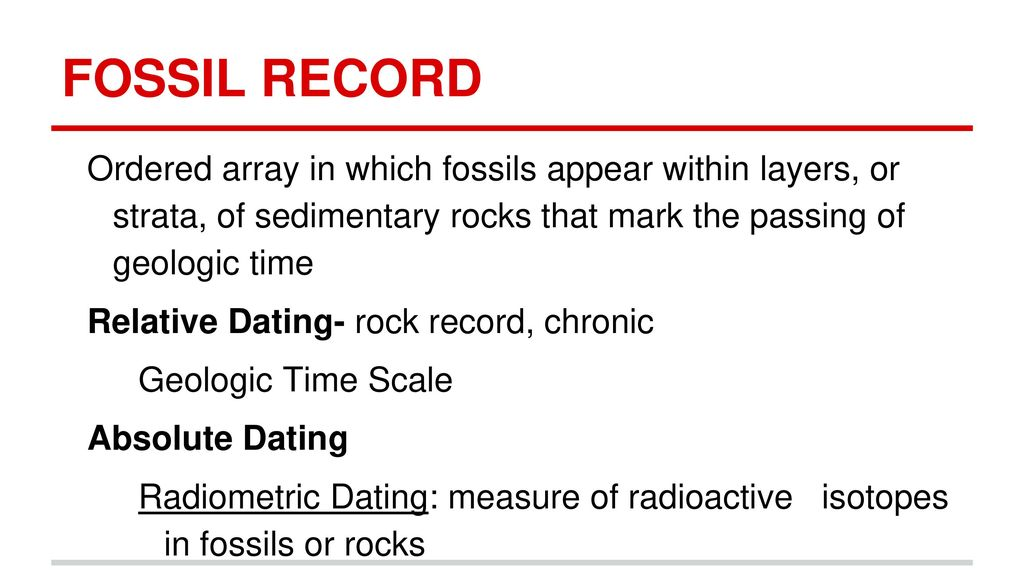 Array radioactive dating