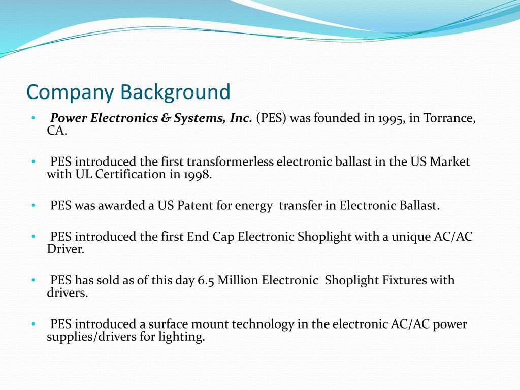 Power Electronics Systems Inc Ppt Download