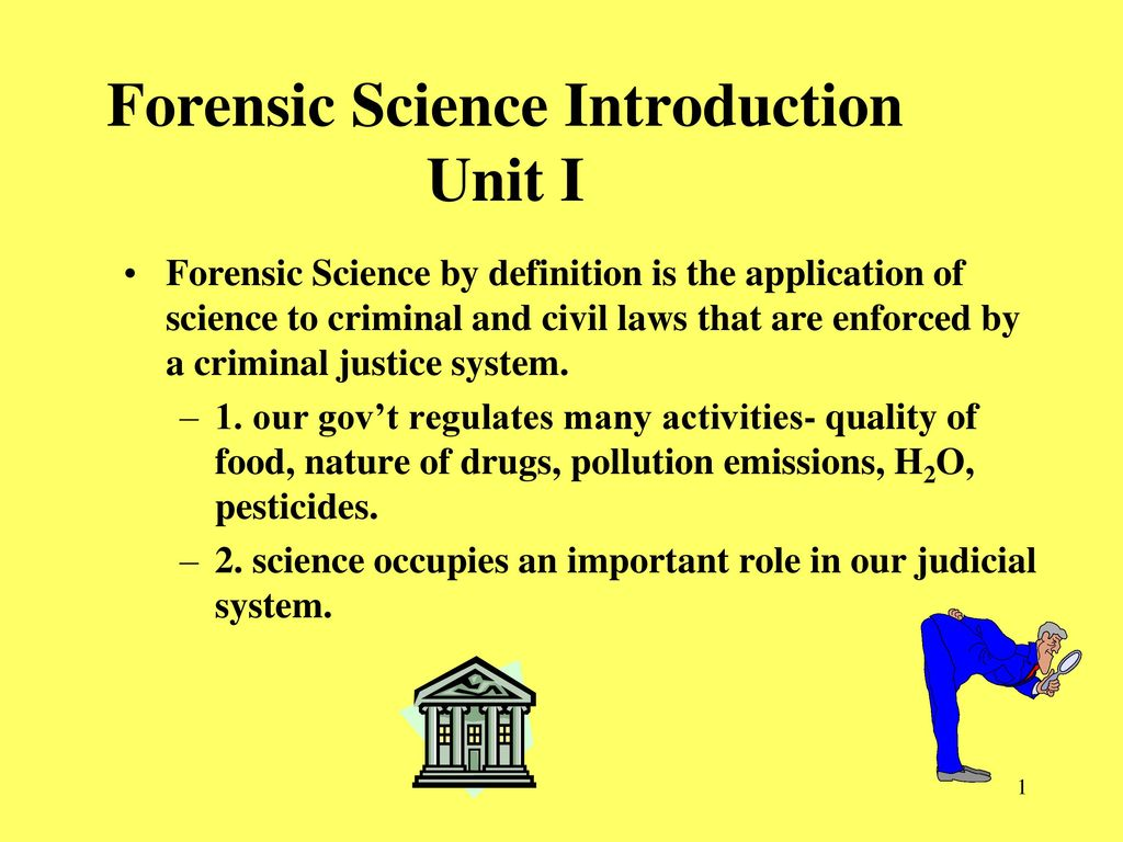 forensic science introduction unit i - ppt download