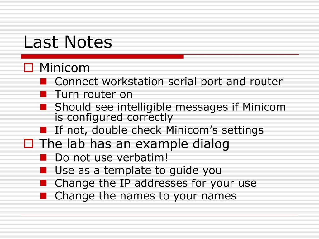 Lab 07 Cisco Routers  - ppt download
