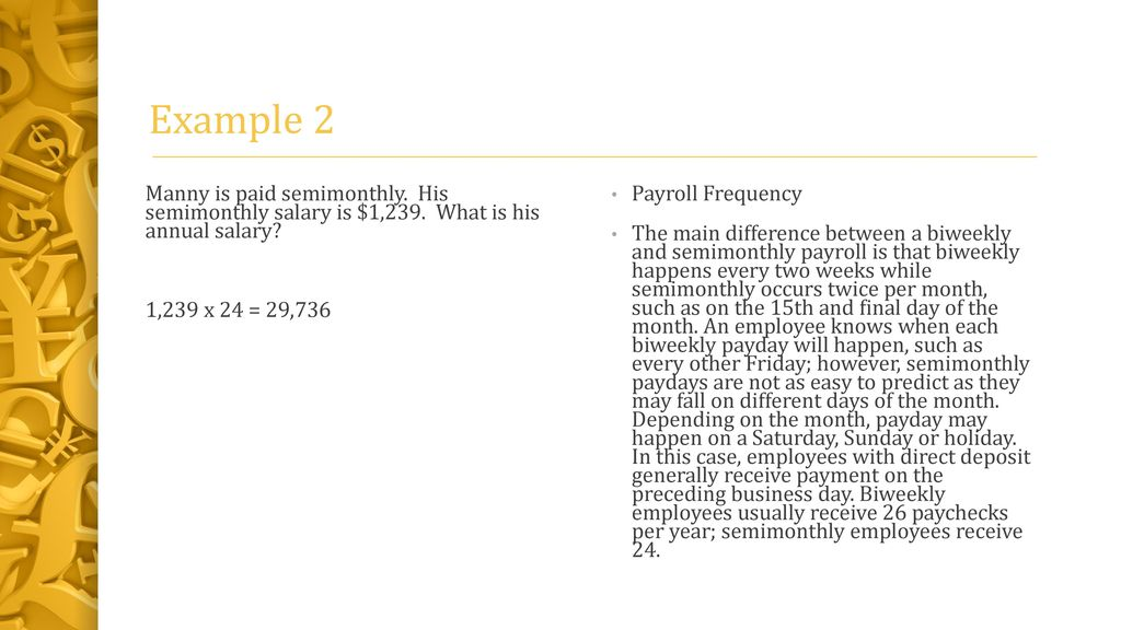 pay periods hourly rate ppt download