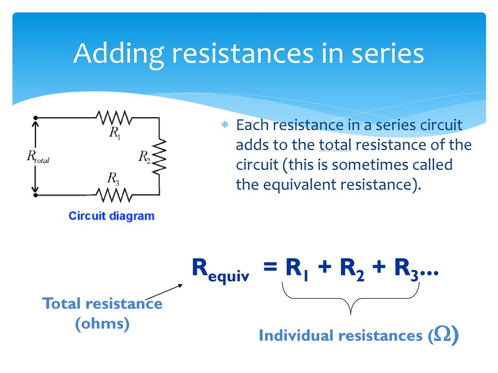 Determining Equivalent Resistance Ppt Download How Does Someone Calculate The Total Of Such A Circuit Adding Resistances In Series