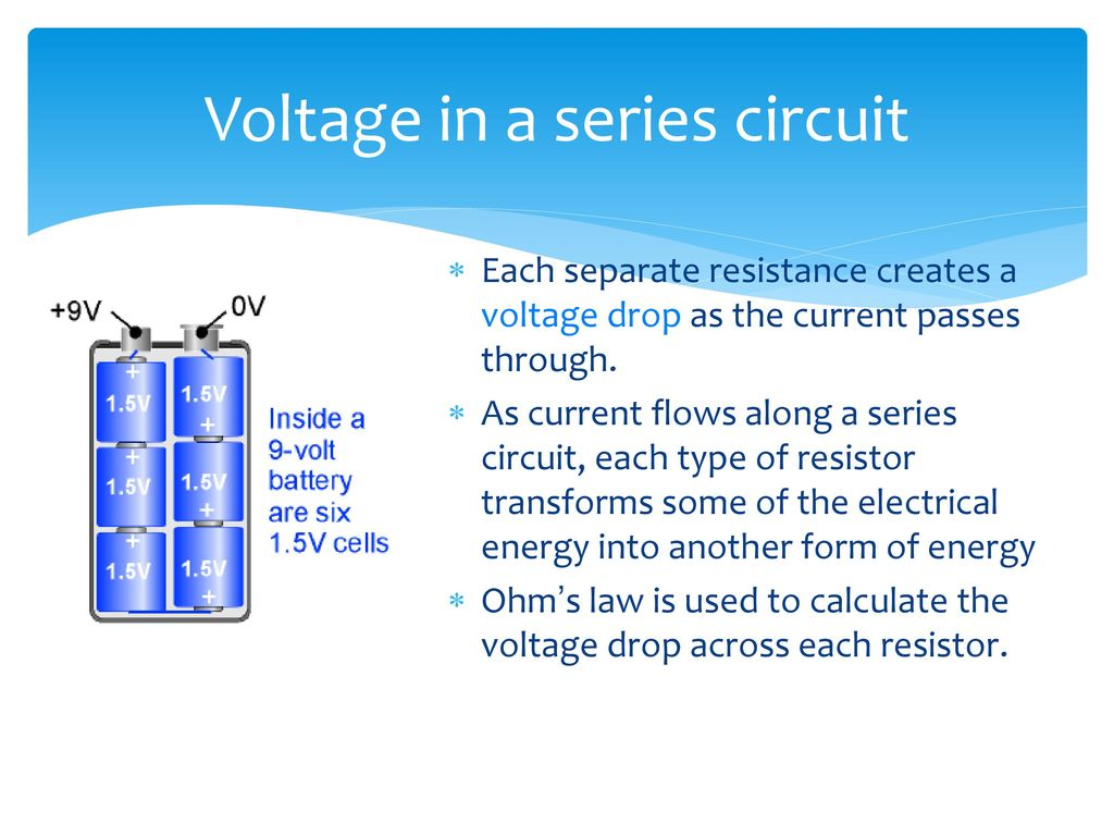 Determining Equivalent Resistance Ppt Download Voltage Drop In A Series Circuit