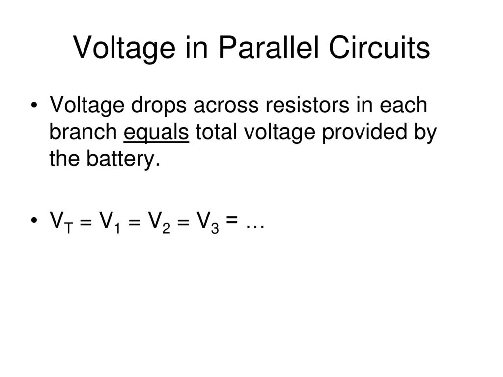 Series And Parallel Circuits Ppt Download Voltage In