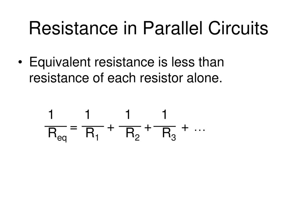 Series And Parallel Circuits Ppt Download Resistors In Resistance