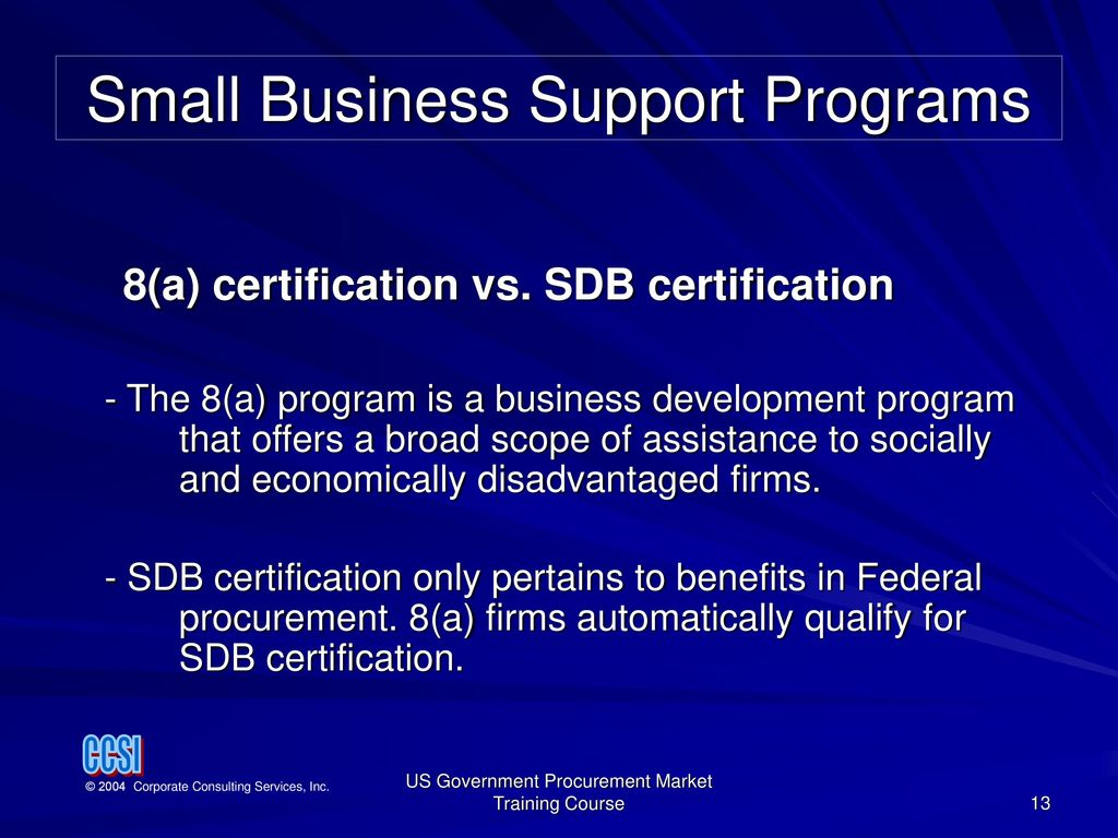 Small Business Support Programs Ppt Download