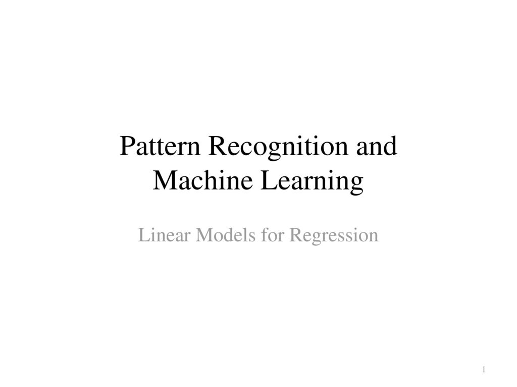 Pattern Recognition And Machine Learning Cool Ideas