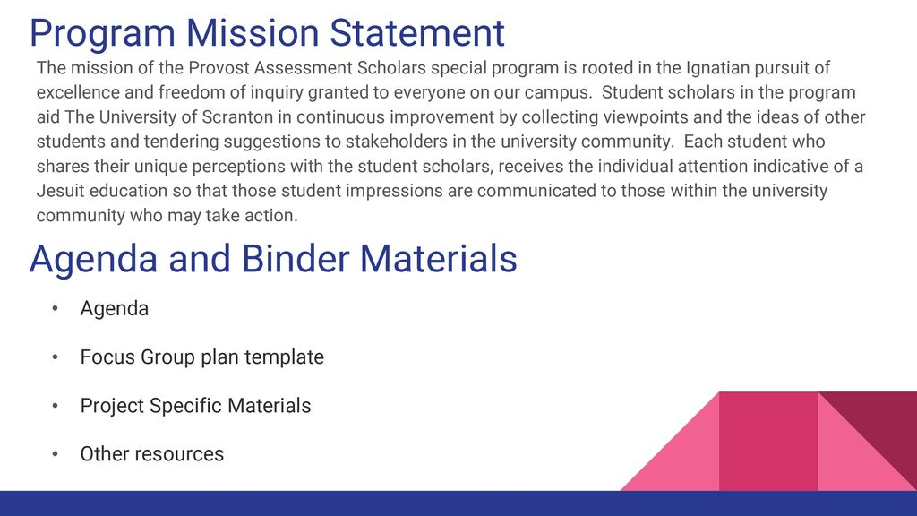 Provost assessment scholars pas saturday 102916 ppt download 5 program mission statement maxwellsz