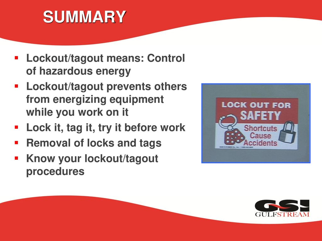 lock out / tag out the control of hazardous energy - ppt download