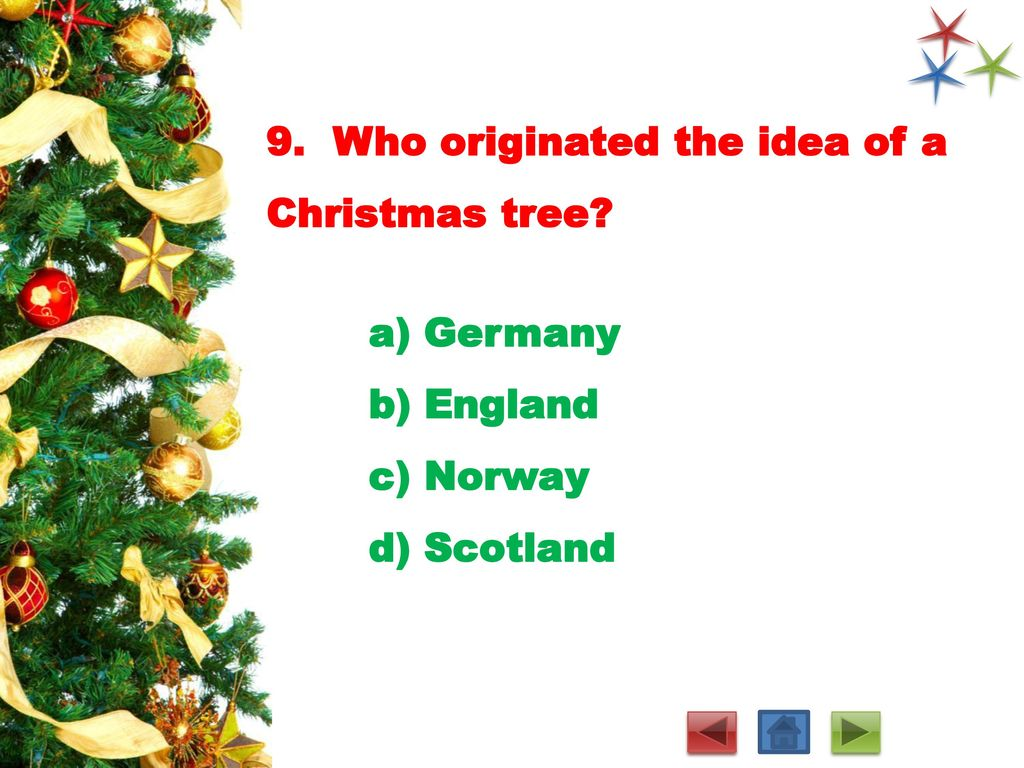 Where Did Christmas Trees Originate.Christmas Quiz With Answer Key Ppt Download