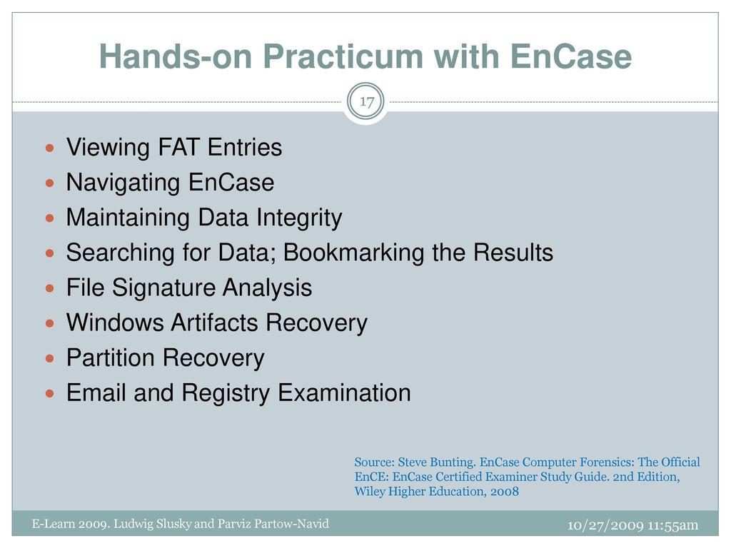 EnCase Computer Forensics: The Official EnCE: EnCase ...