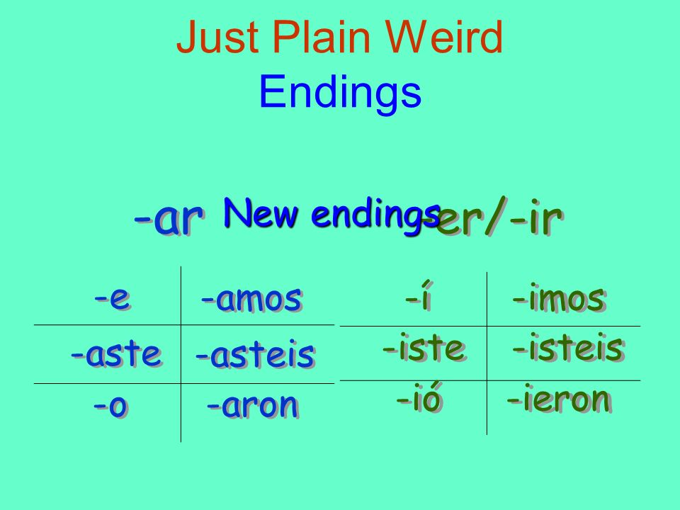 Just Plain Weird Endings