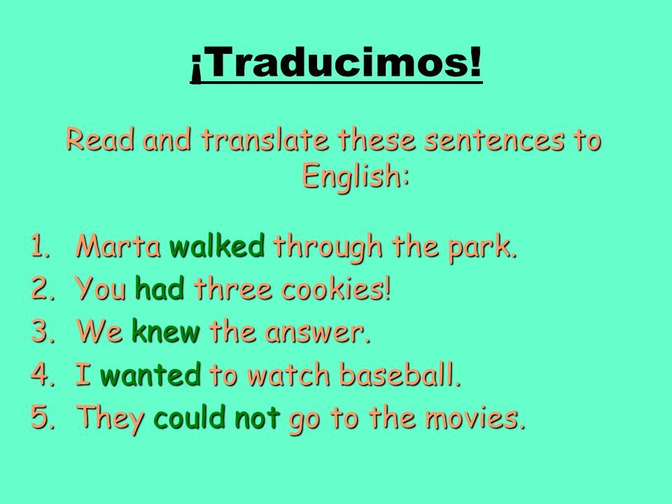 Read and translate these sentences to English: