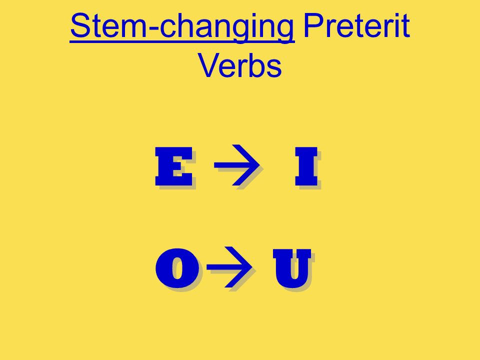 Stem-changing Preterit Verbs