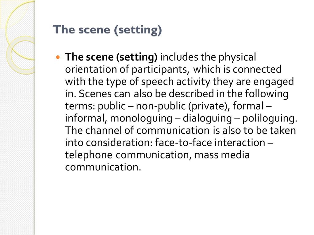 Types of speech activity - what is it 32