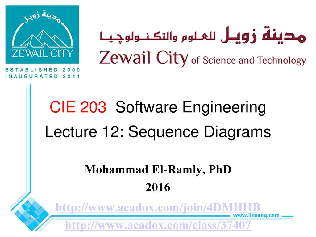 Cie 203 software engineering lecture 12 sequence diagrams ppt cie 203 software engineering lecture 12 sequence diagrams ccuart Gallery