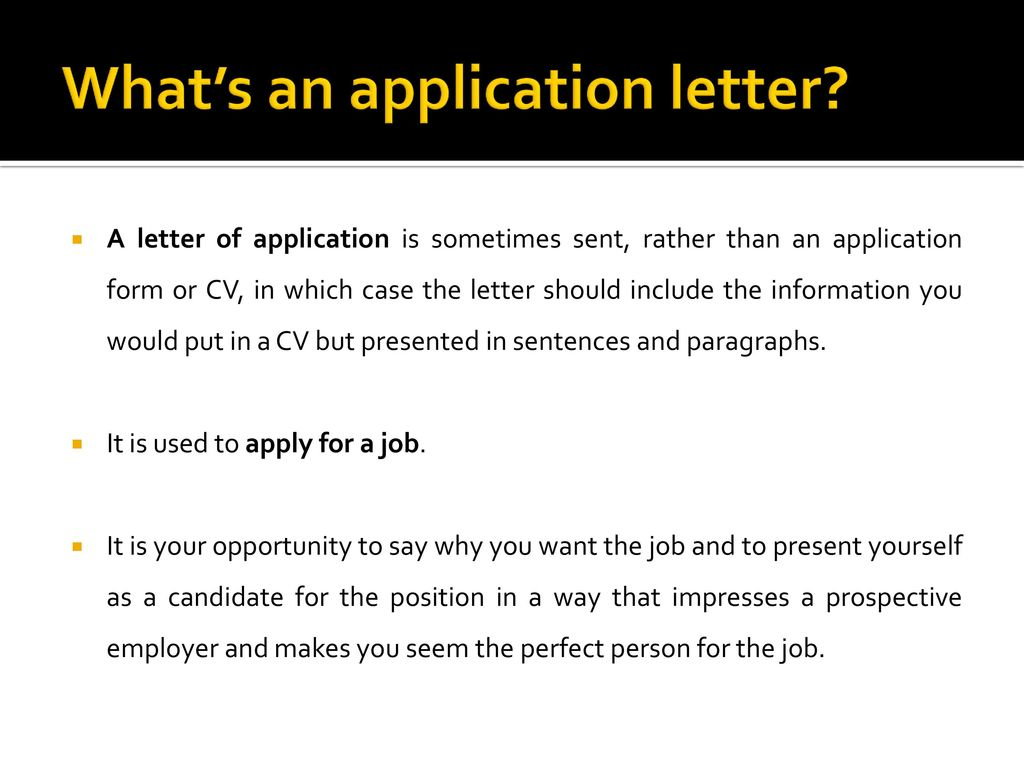 HOW TO WRITE A FORMAL LETTER OF APPLICATION - ppt download