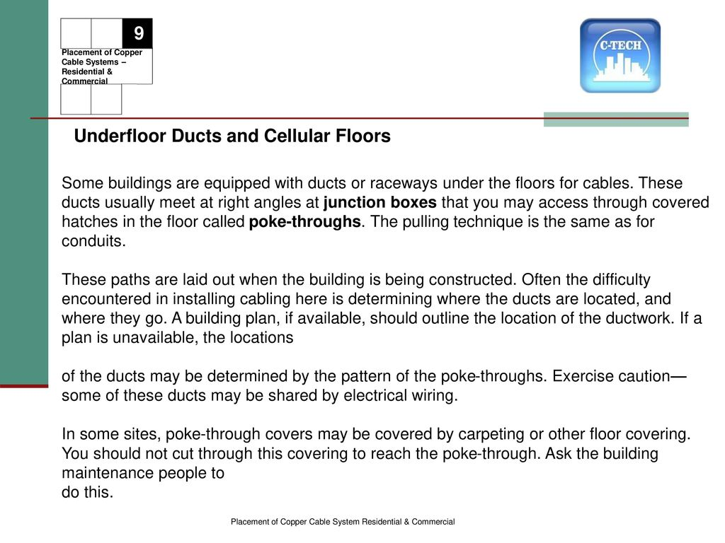 Copper Based System Placement Of Ppt Download Specialty Tools Installing Raceways And Pulling Wire 39 Underfloor
