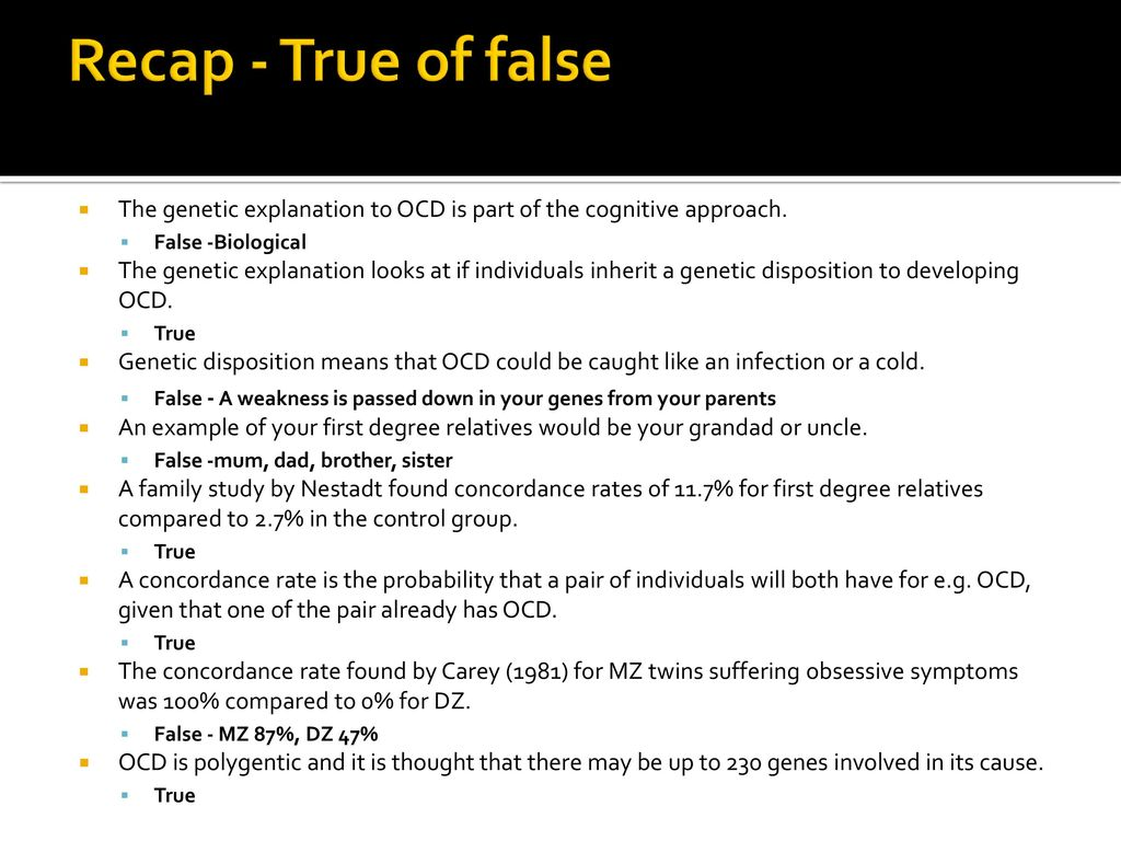biological explanations of ocd - ppt download