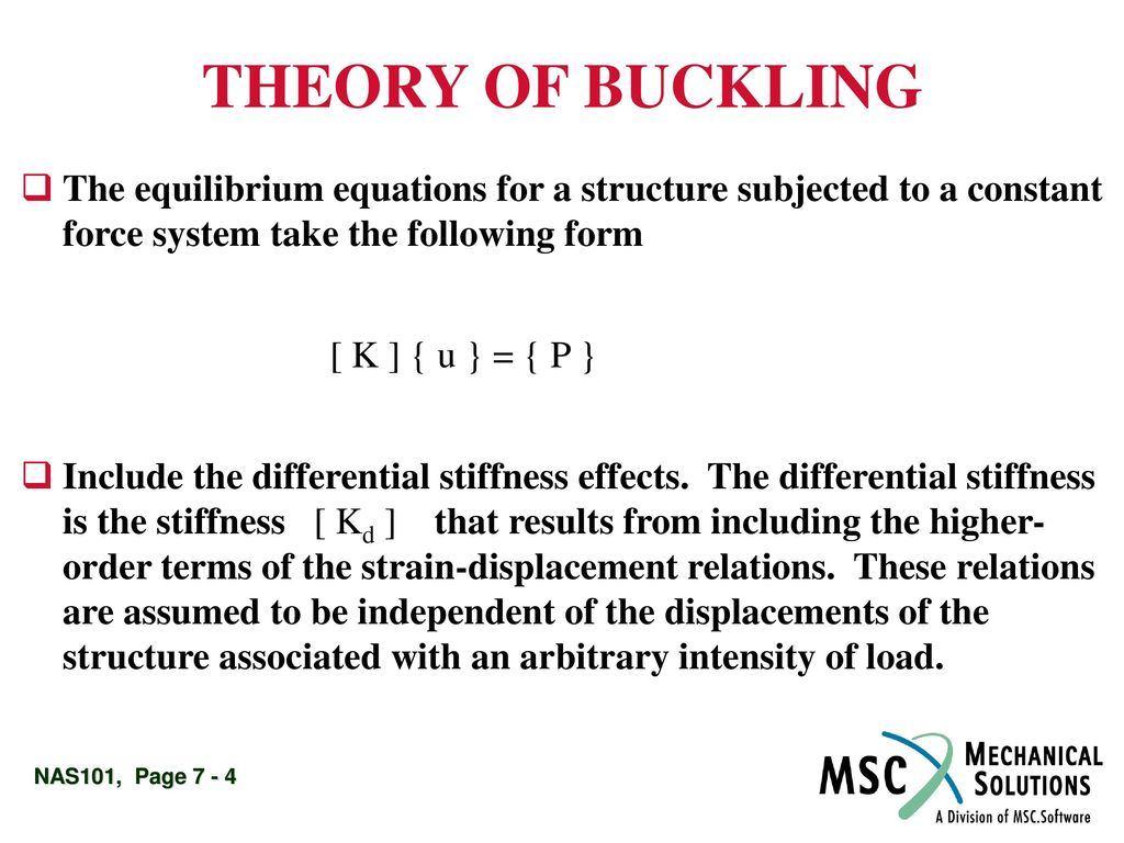Linear Buckling Analysis - ppt download