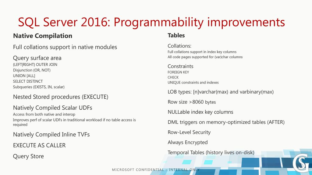 In-Memory OLTP: Concepts and Improvements in SQL Server ppt