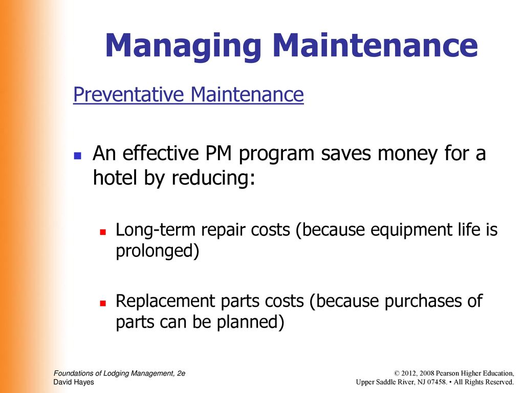 The Maintenance Department - ppt download