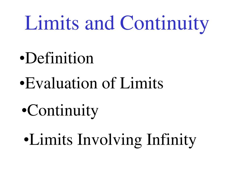 Definition Evaluation | Limits And Continuity Definition Evaluation Of Limits Continuity