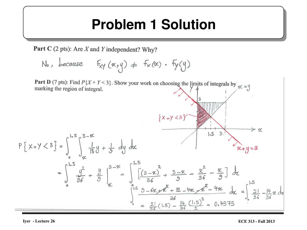 Some problems on Joint Distributions, - ppt download