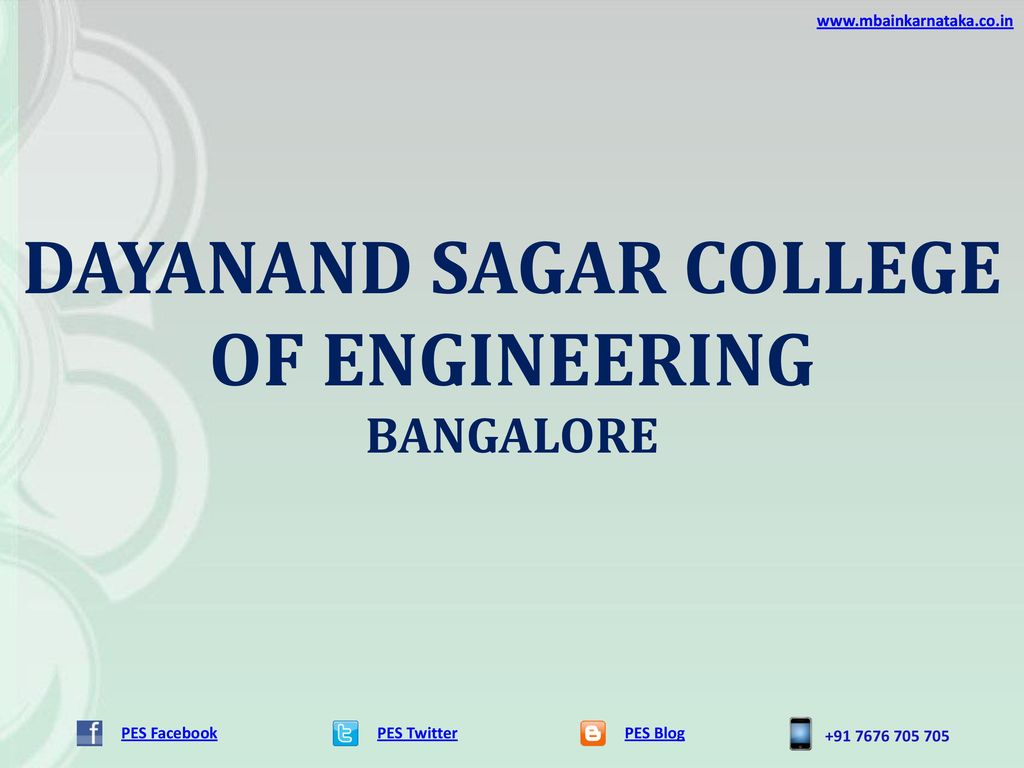 DAYANAND SAGAR COLLEGE OF ENGINEERING - ppt download