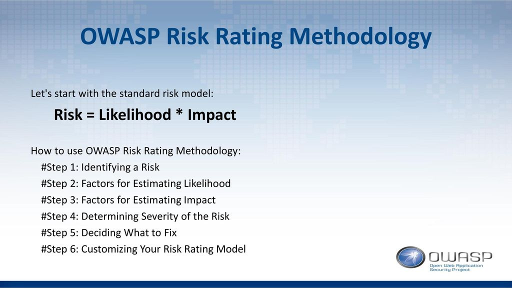OWASP Risk Rating Methodology