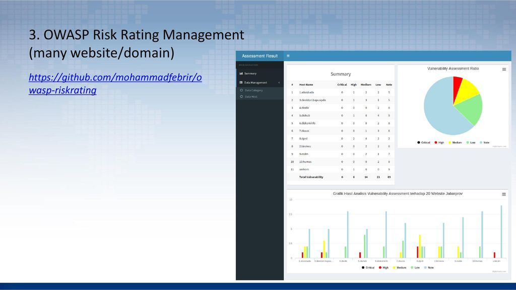 3. OWASP Risk Rating Management (many website/domain)
